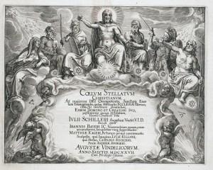 Julius Schiller, Coelum Stellatum Christianum (1627) - engraved image from title page